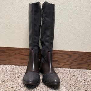 Matisse | Knee-High Brown Leather Boots  8M